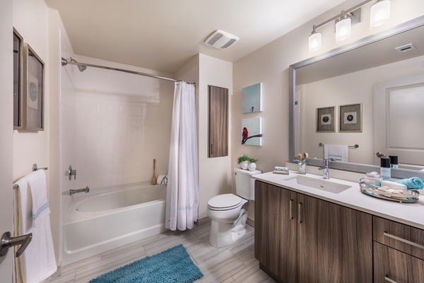 bathroom at Areum Apartments
