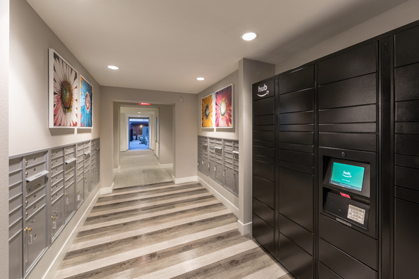 mail room at Areum Apartments