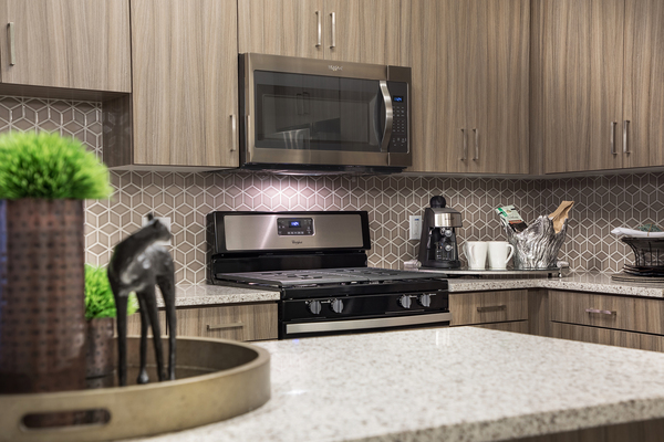 kitchen at Areum Apartments