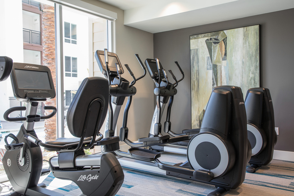 fitness center at Areum Apartments