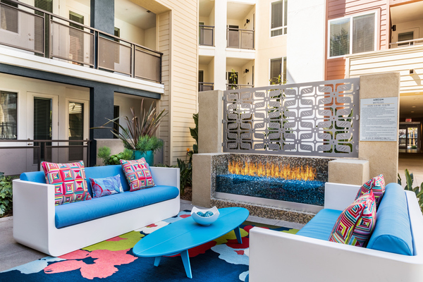 fire pit at Areum Apartments