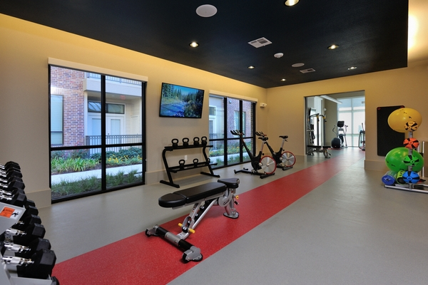 fitness center at Broadstone Energy Park Apartments