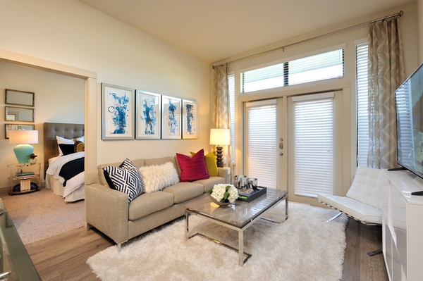 living room at Broadstone Energy Park Apartments