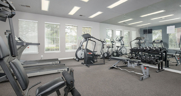fitness center at Parc 1010 Apartments