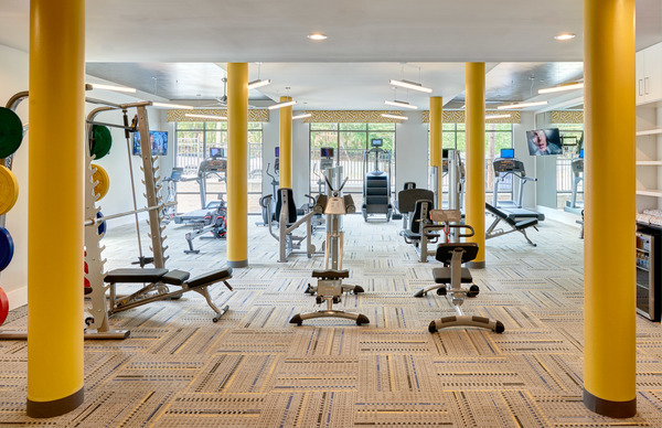 fitness center at 810 Ninth Apartments