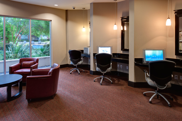 business center at Broadstone Ambrose Apartments