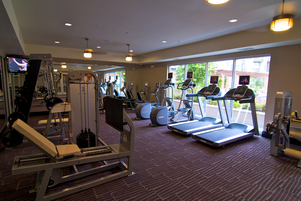 fitness center at Broadstone Ambrose Apartments