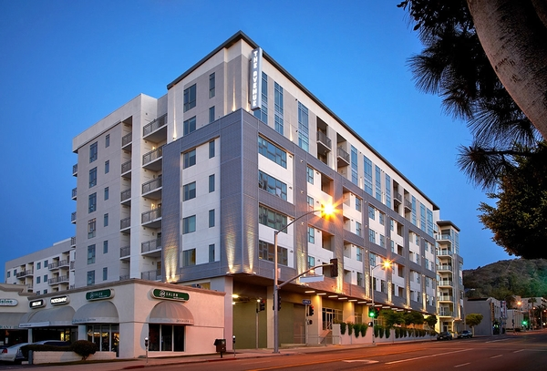 exterior at The Avenue Hollywood Apartments