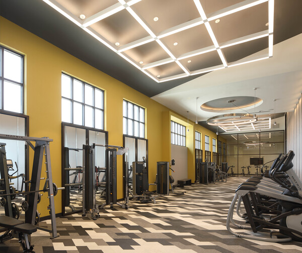 fitness center at Celeste at La Cantera Apartments