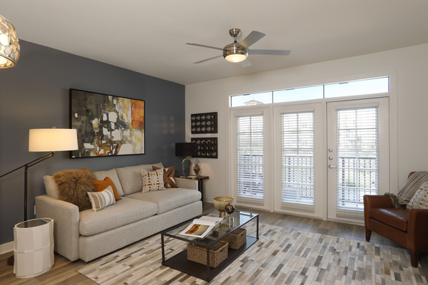 living room at Celeste at La Cantera Apartments