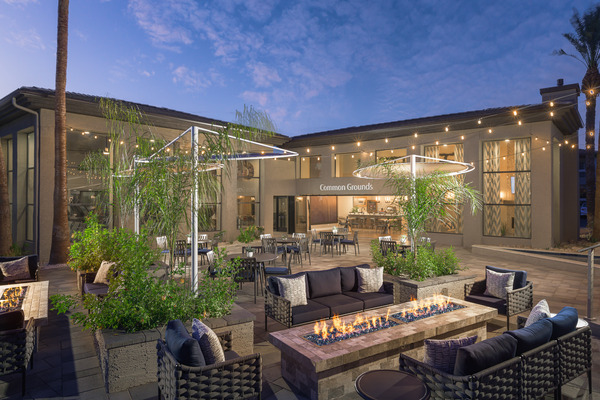 fire pit at Elite North Scottsdale Apartments