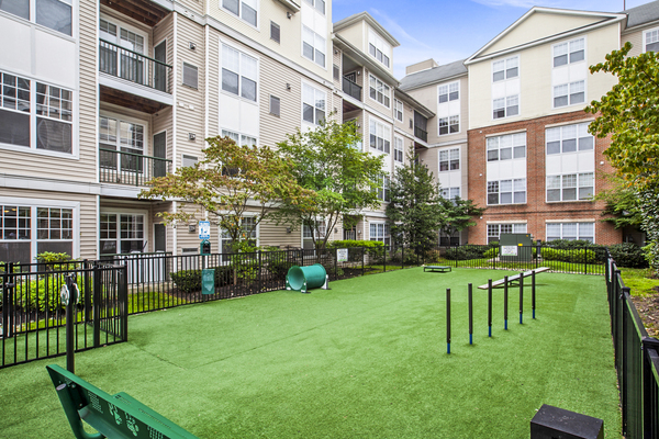dog park at The Union at Lyndhurst Apartments