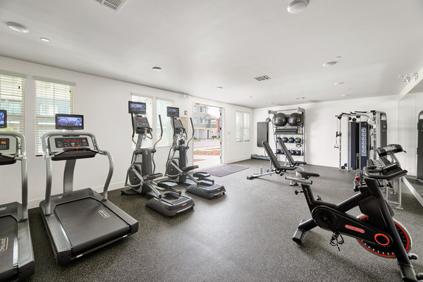 fitness center at Blue Oak Apartments