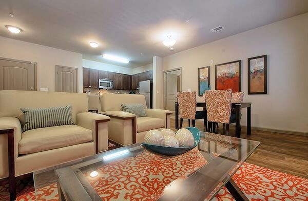 living room at Enclave at Hometown Apartments