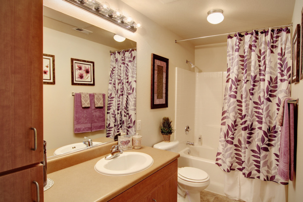 bathroom at Canyon Park Apartments