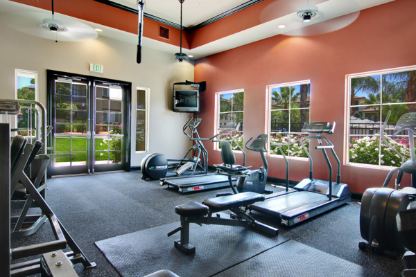 fitness center at Canyon Park Apartments