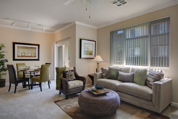 living room at Canyon Park Apartments