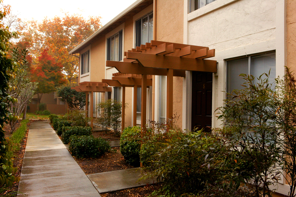 exterior buildings at the Landing at Capitola Apartments