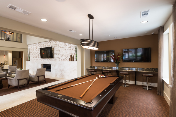game room at High Point Uptown Apartments