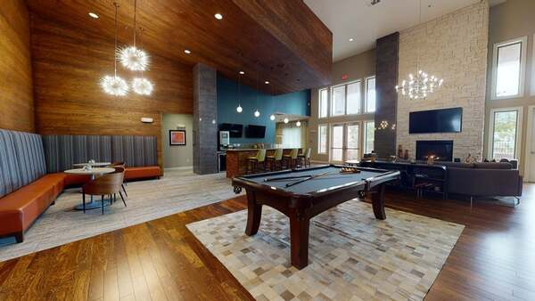 pool table in clubhouse area at Landmark Conservancy