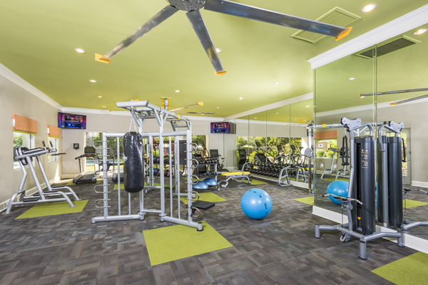 Fitness room at Symphony Apartments