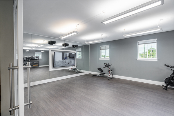 yoga/spin studio at Overture West Ashley Apartments