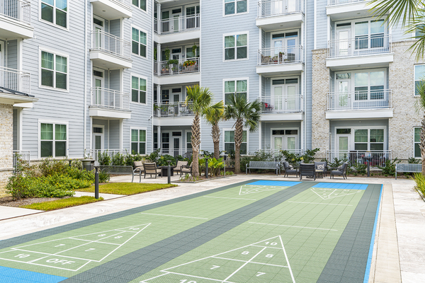 sport court at Overture West Ashley Apartments