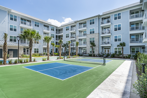 tennis court at Overture West Ashley Apartments