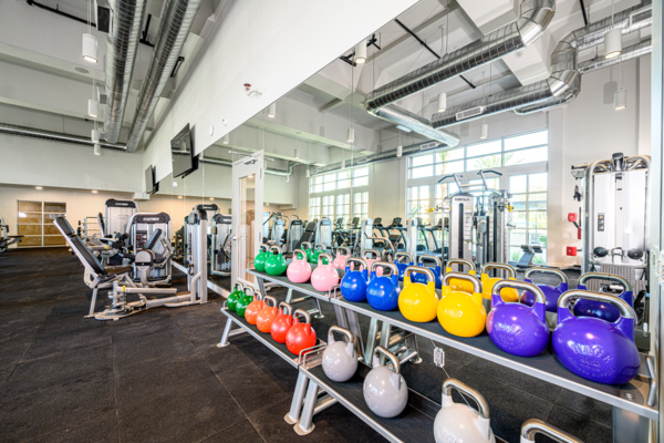 Fitness center at The Charlie Orange County