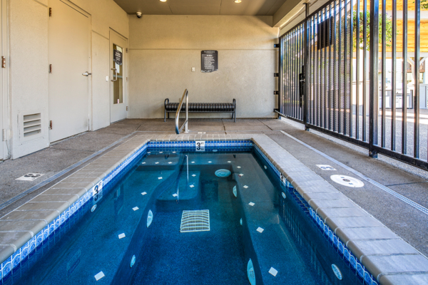 indoor pool at Parkside Apartments