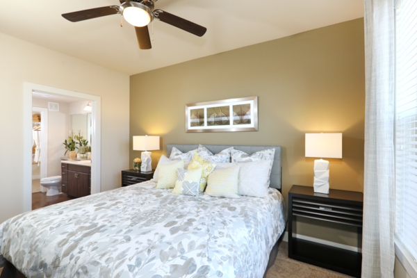 bedroom at Arvada Station Apartments