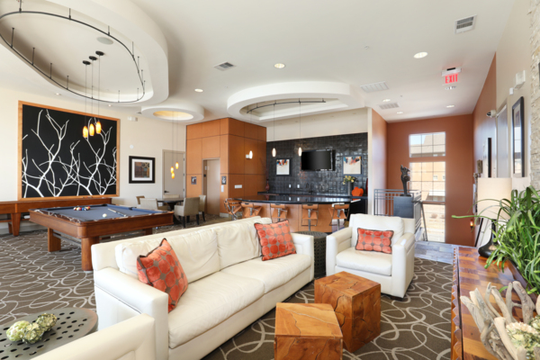 lounge area at Arvada Station Apartments