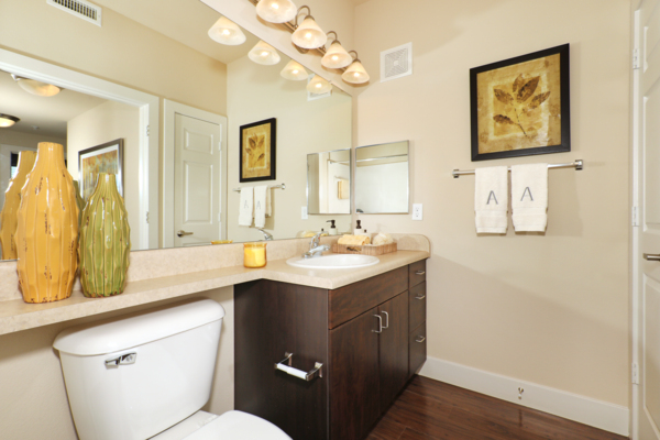 bathroom at Arvada Station Apartments
