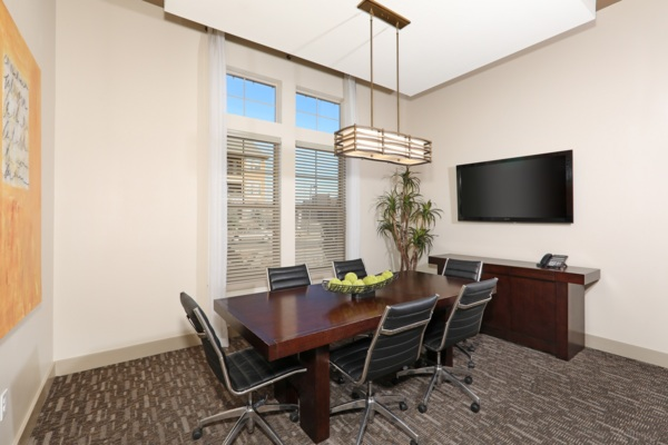 business center at Arvada Station Apartments
