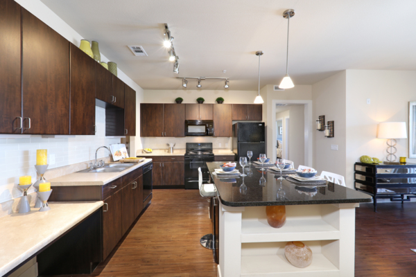kitchen at Arvada Station Apartments