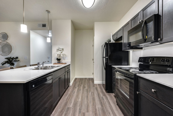 kitchen at Central Park Commons Apartments