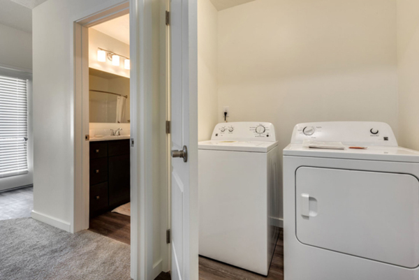 laundry room at Central Park Commons Apartments