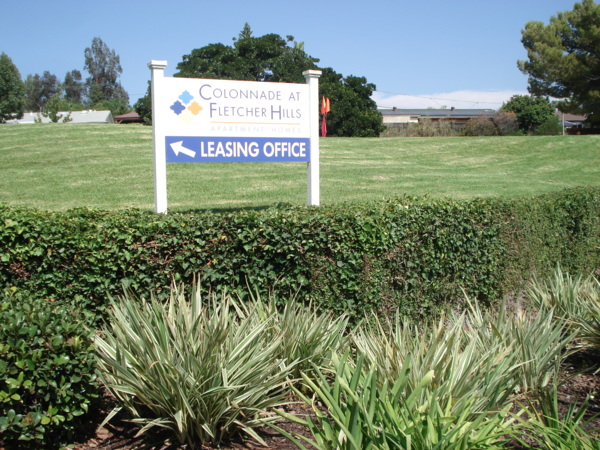 signage at Colonnade at Fletcher Hills Apartments