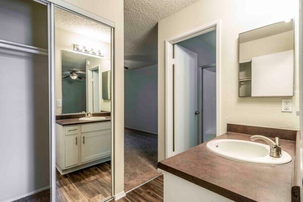 bathroom at Colonnade at Fletcher Hills Apartments