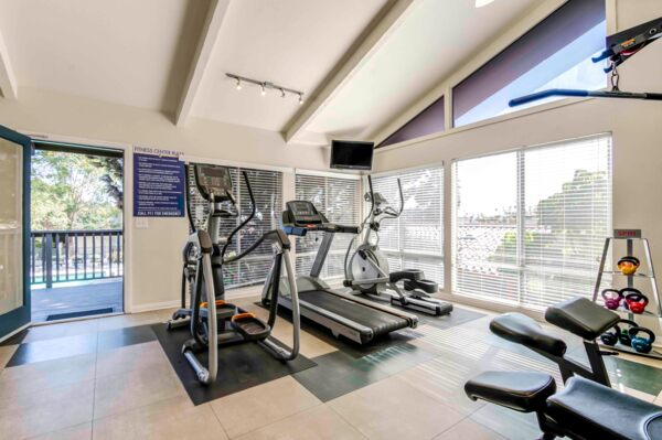 fitness center at Colonnade at Fletcher Hills Apartments