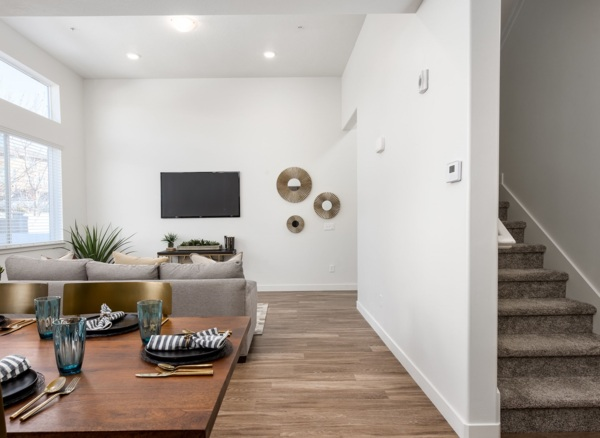 living room at Diamond Ridge Townhomes