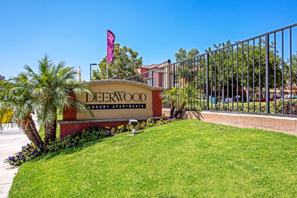 signage at Deerwood Apartments