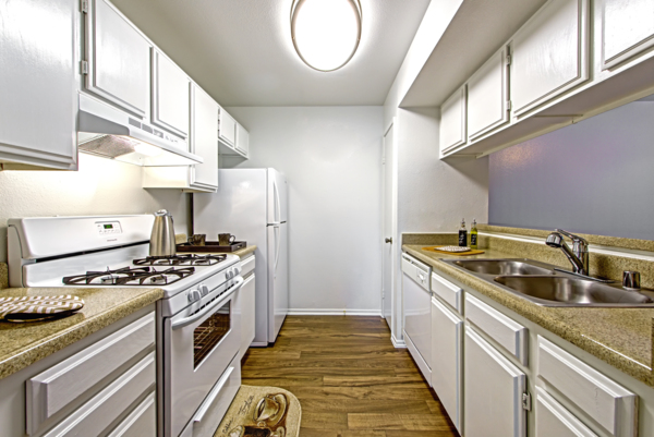 kitchen at Deerwood Apartments
