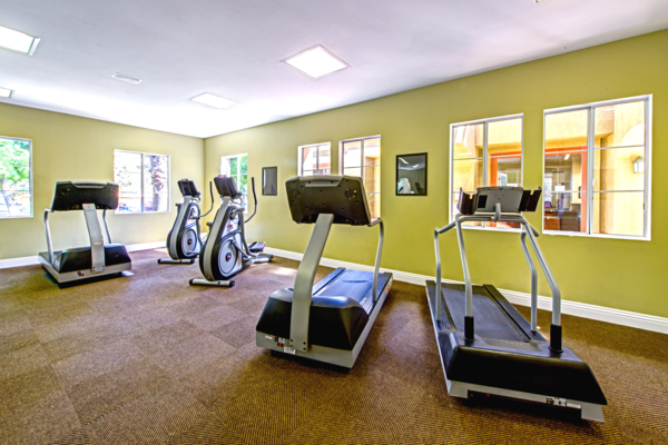 fitness center at Deerwood Apartments