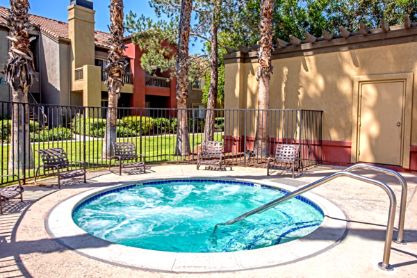 hot tub/jacuzzi at Deerwood Apartments