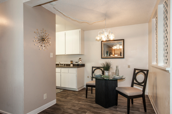 dining area at Cypress Point Apartments