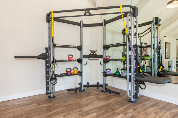 fitness center at Cypress Point Apartments