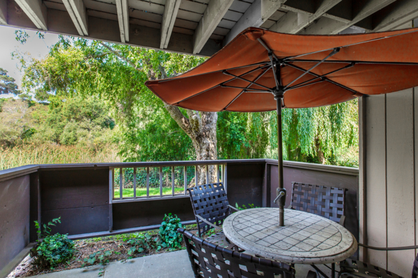 patio at Cypress Point Apartments