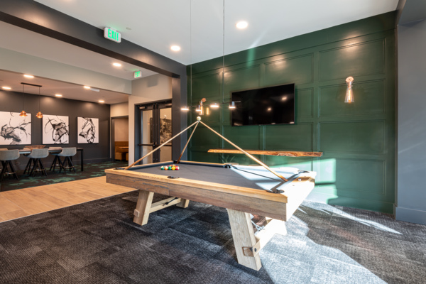 game room at Solis Patterson Place Apartments