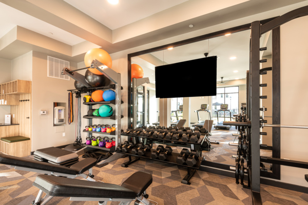 fitness center at Solis Patterson Place Apartments